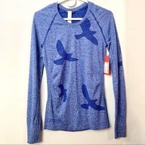 Oiselle Flyte Long Sleeve Running Top Big Blue S